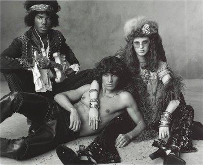 Jimi Hendrix, Jim Morrison and Janis Joplin